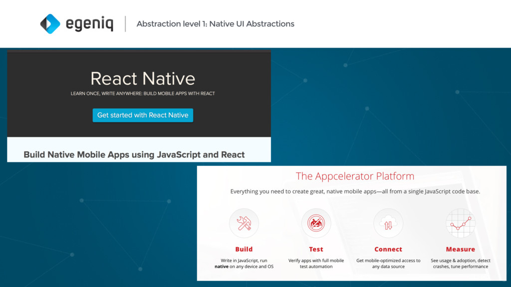 Abstraction level 1: Native UI Abstractions 11