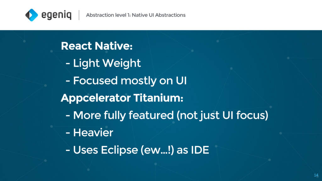 Abstraction level 1: Native UI Abstractions Rea...