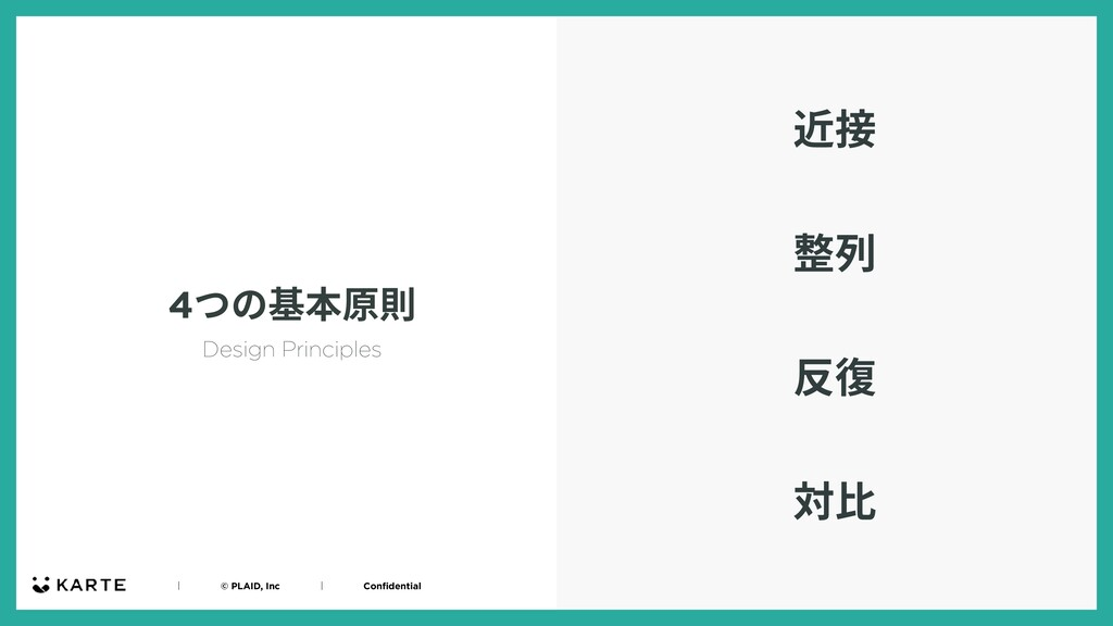 ʛɹɹɹɹ© PLAID, IncɹɹɹɹʛɹɹɹɹConfidential 4つの基本原則 近...