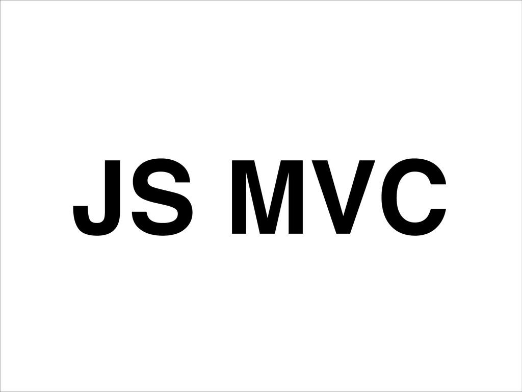 JS MVC