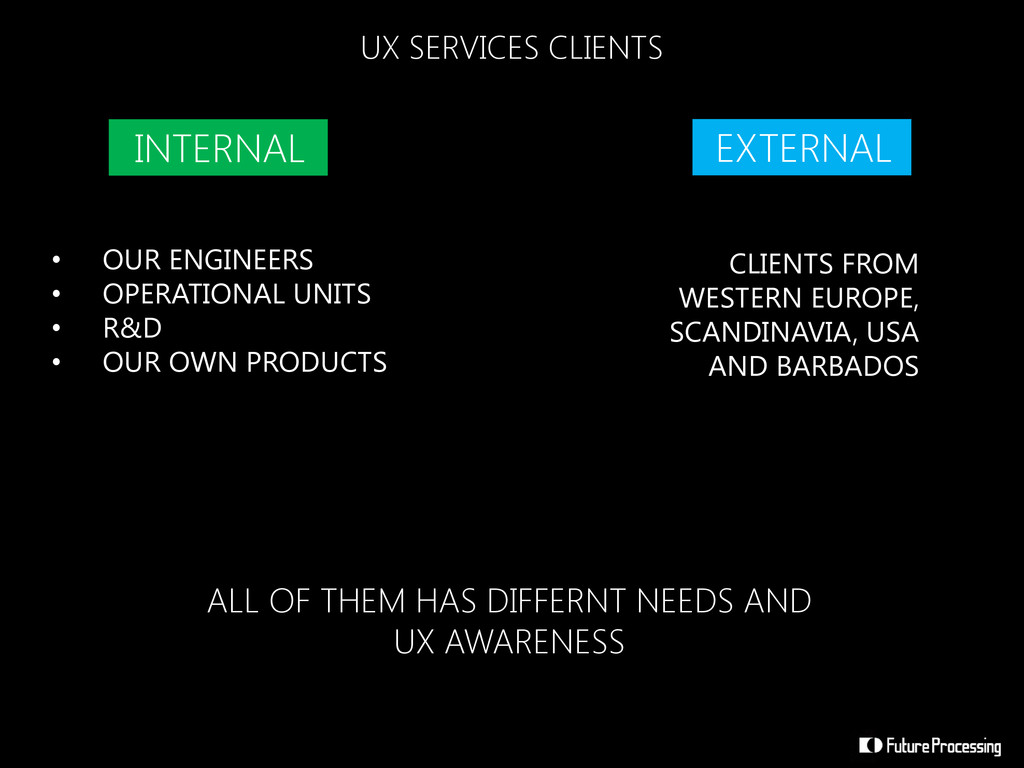 UX SERVICES CLIENTS INTERNAL • OUR ENGINEERS • ...