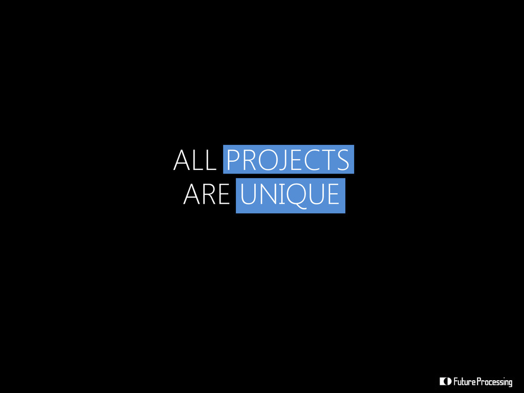 ALL PROJECTS ARE UNIQUE