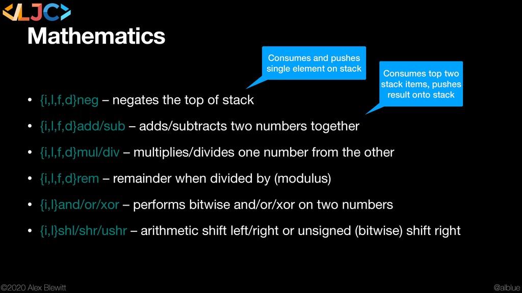 @alblue ©2020 Alex Blewitt Mathematics • {i,l,f...