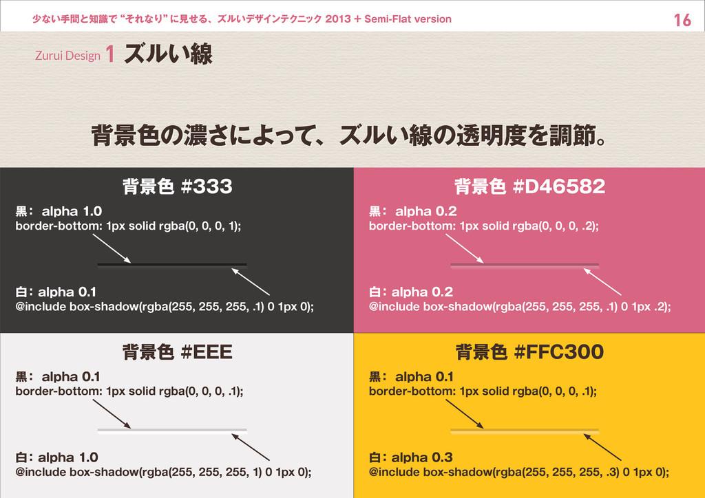 """16 少ない手間と知識で""""それなり"""" に見せる、ズルいデザインテクニック 2013 + Sem..."""