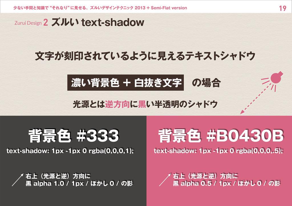 """19 少ない手間と知識で""""それなり"""" に見せる、ズルいデザインテクニック 2013 + Sem..."""