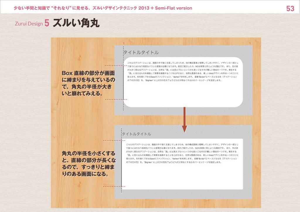 """53 少ない手間と知識で""""それなり"""" に見せる、ズルいデザインテクニック 2013 + Sem..."""