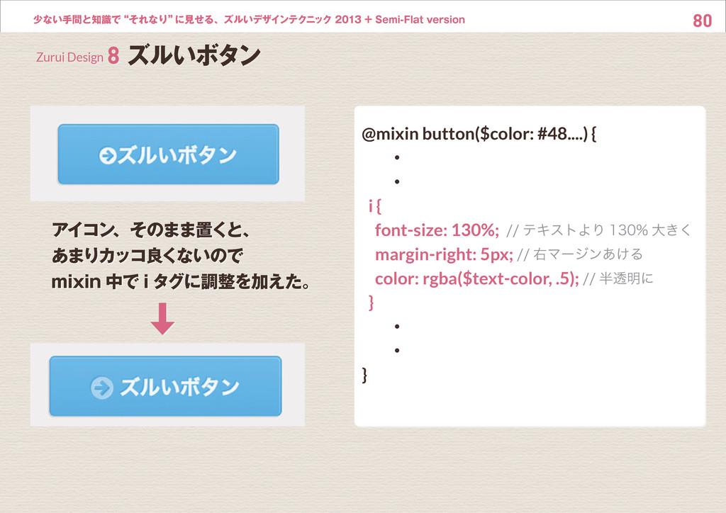 """80 少ない手間と知識で""""それなり"""" に見せる、ズルいデザインテクニック 2013 + Sem..."""
