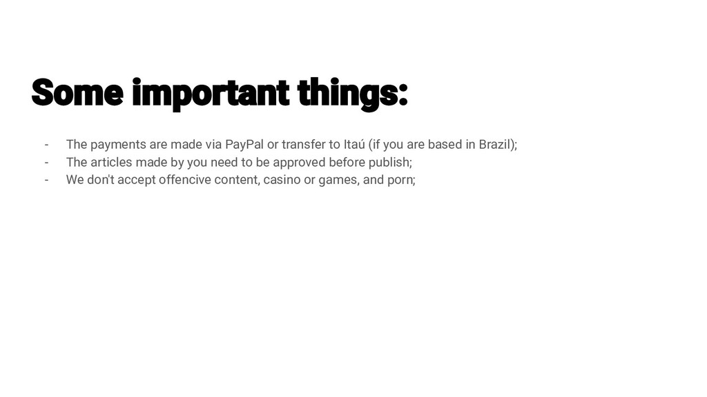 - The payments are made via PayPal or transfer ...