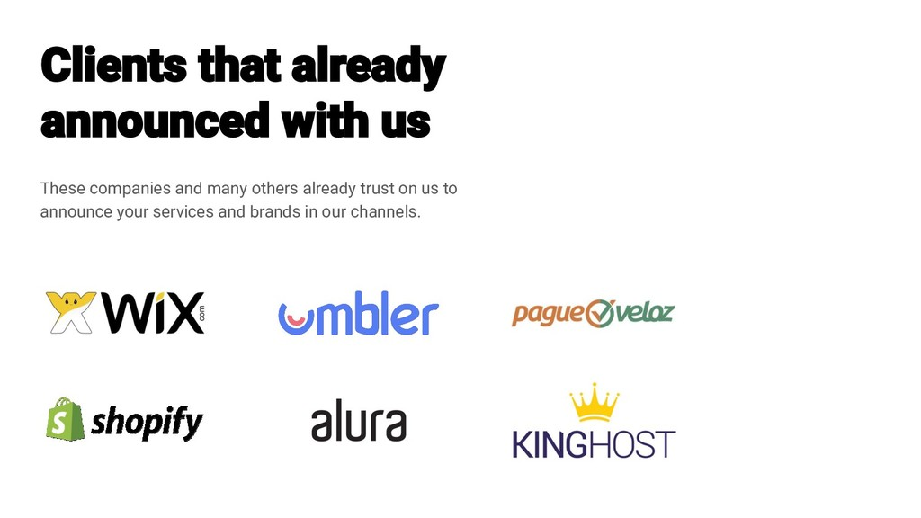 These companies and many others already trust o...