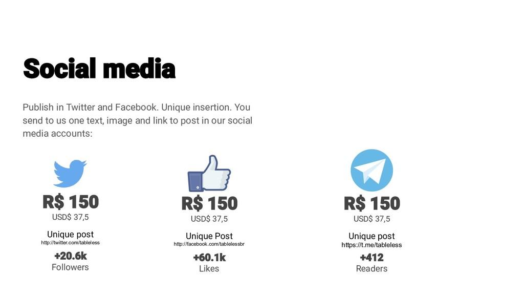 Publish in Twitter and Facebook. Unique inserti...