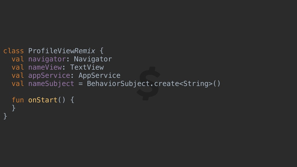 class ProfileViewRemix { val navigator: Navigat...