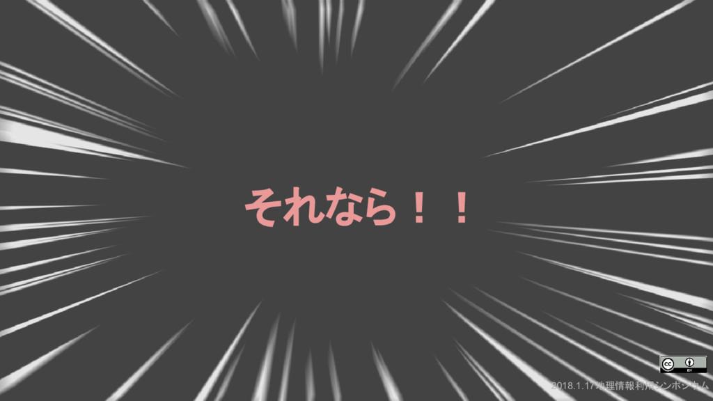 2018.1.17地理情報利用シンポジウム それなら!!