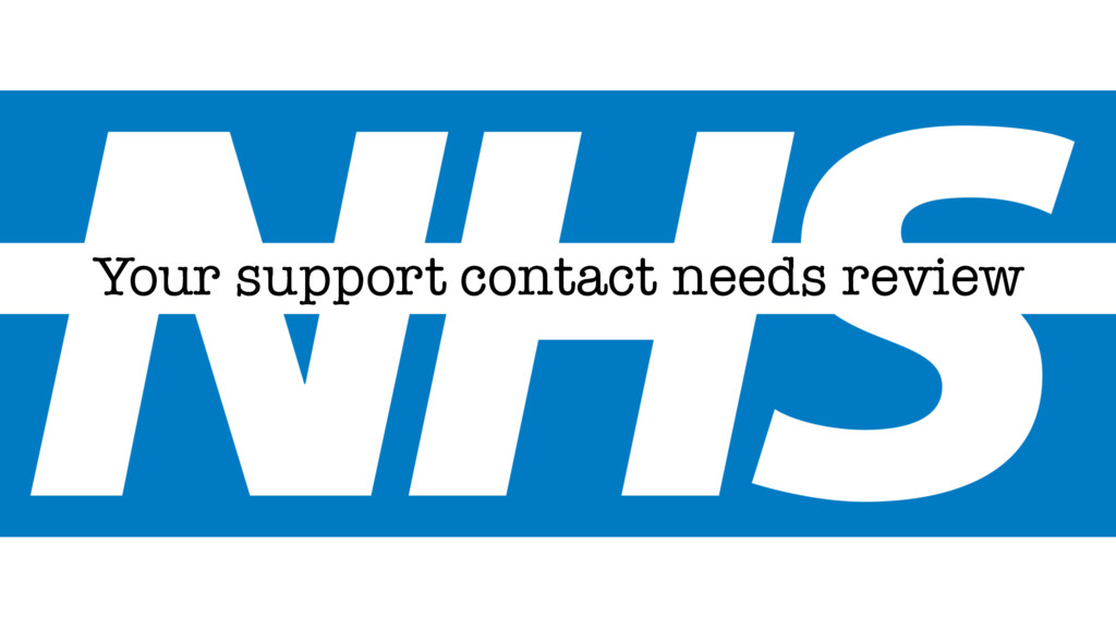 Your support contact needs review