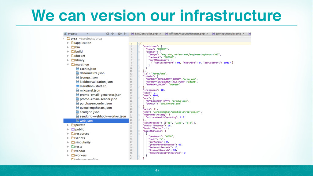 We can version our infrastructure 47
