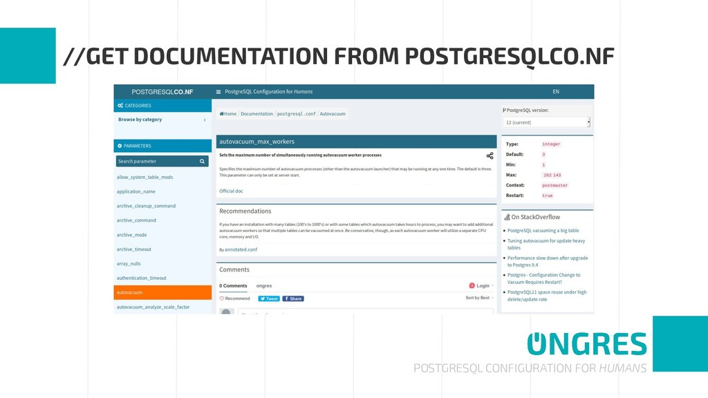 POSTGRESQL CONFIGURATION FOR HUMANS //GET DOCUM...