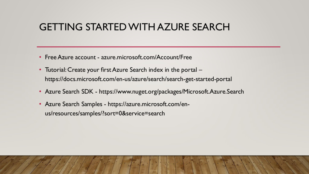 GETTING STARTED WITH AZURE SEARCH • Free Azure ...
