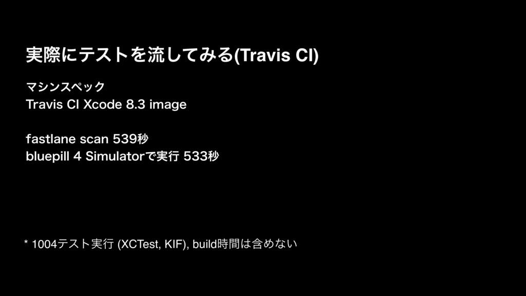 ࣮ࡍʹςετΛྲྀͯ͠ΈΔ(Travis CI) ϚγϯεϖοΫ 5SBWJT$*9DPE...