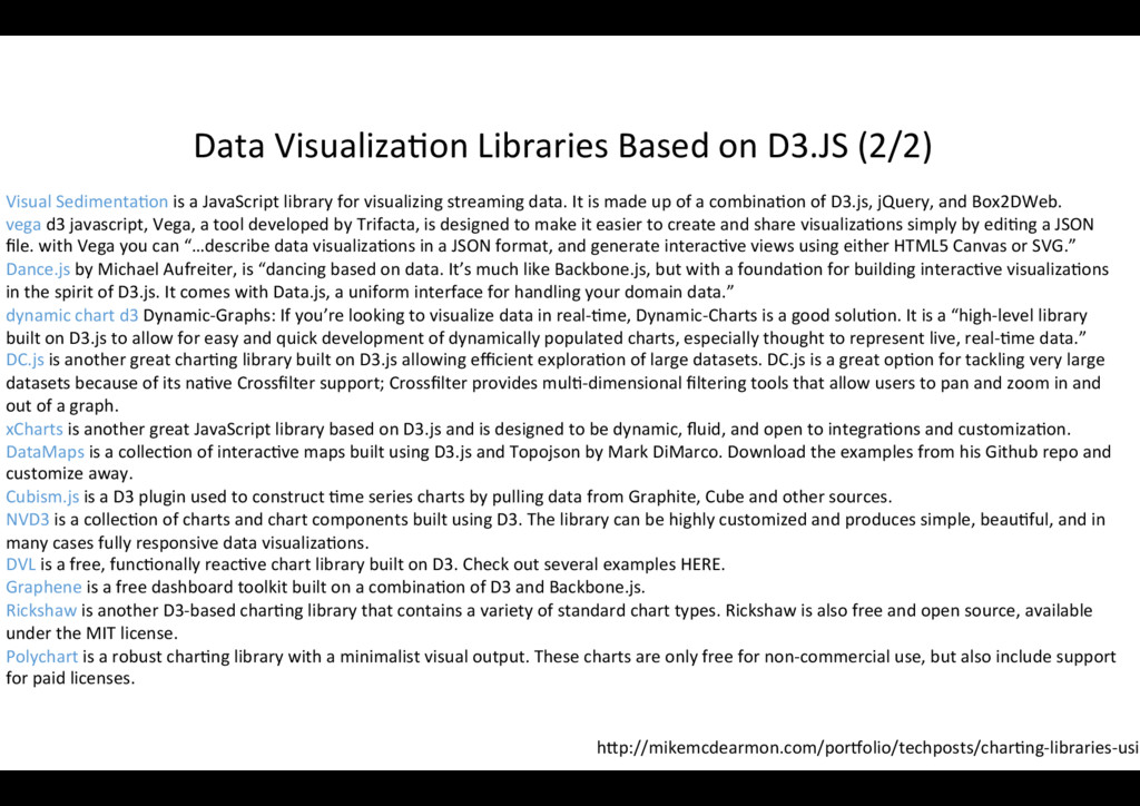 Data Visualiza?on Libraries Based on D3.JS (2/2...
