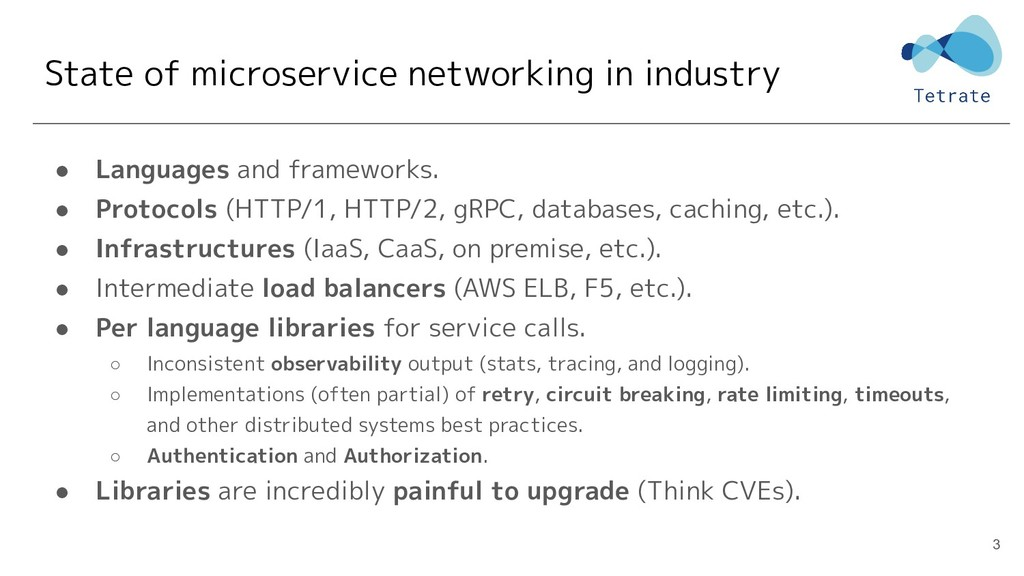 State of microservice networking in industry ● ...