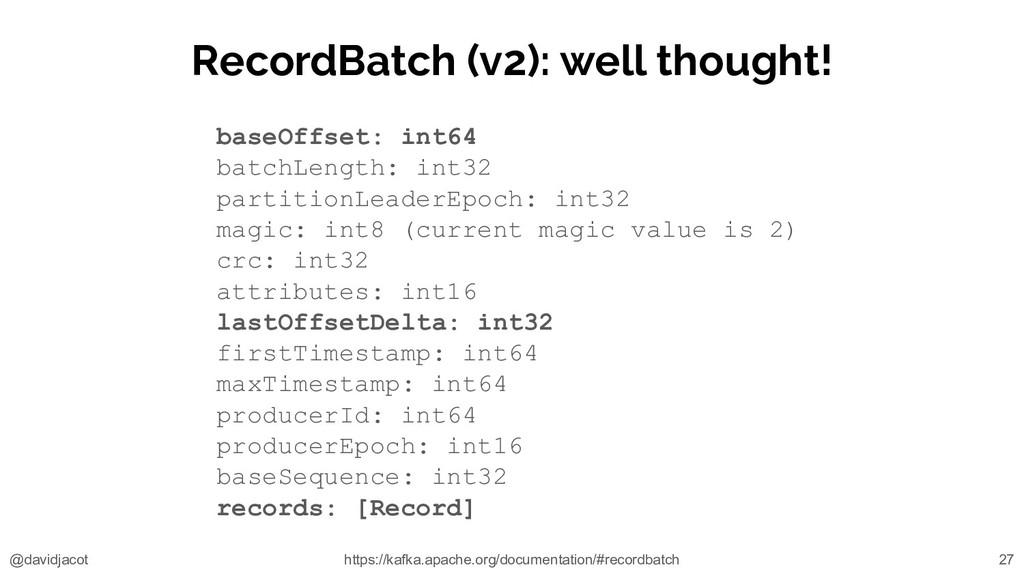 @davidjacot RecordBatch (v2): well thought! bas...