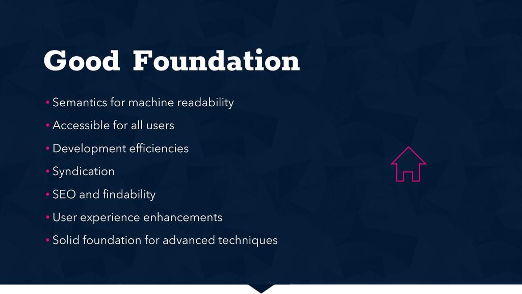 Good Foundation • Semantics for machine readabi...