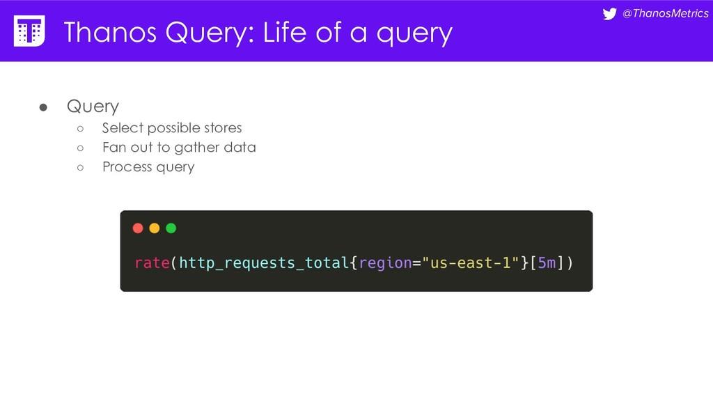 @ThanosMetrics Thanos Query: Life of a query ● ...