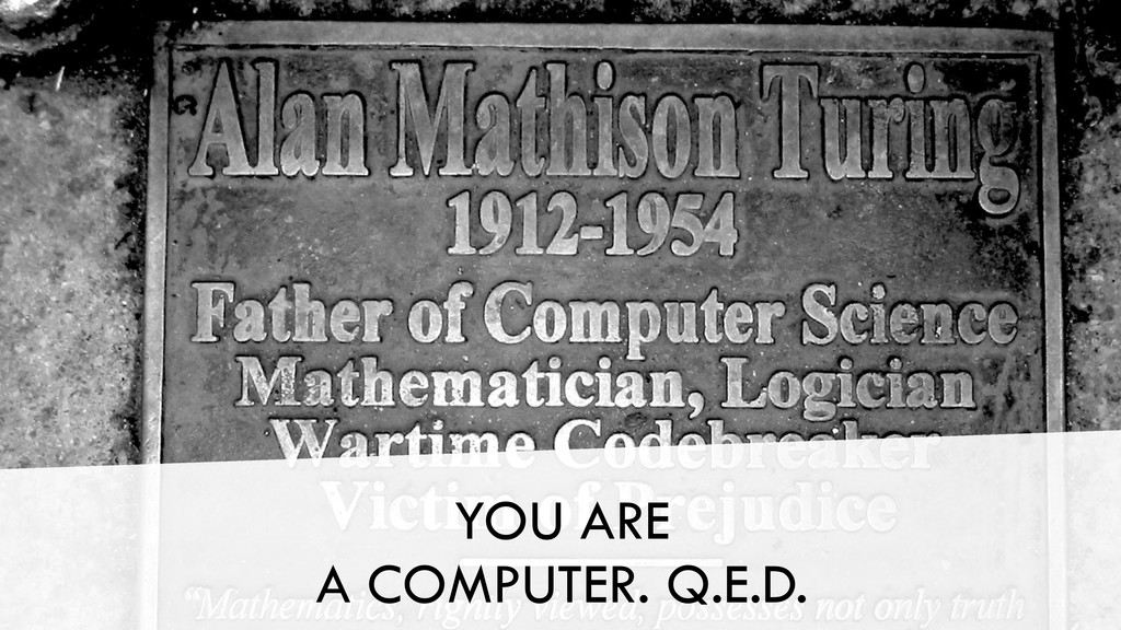 YOU ARE A COMPUTER. Q.E.D.