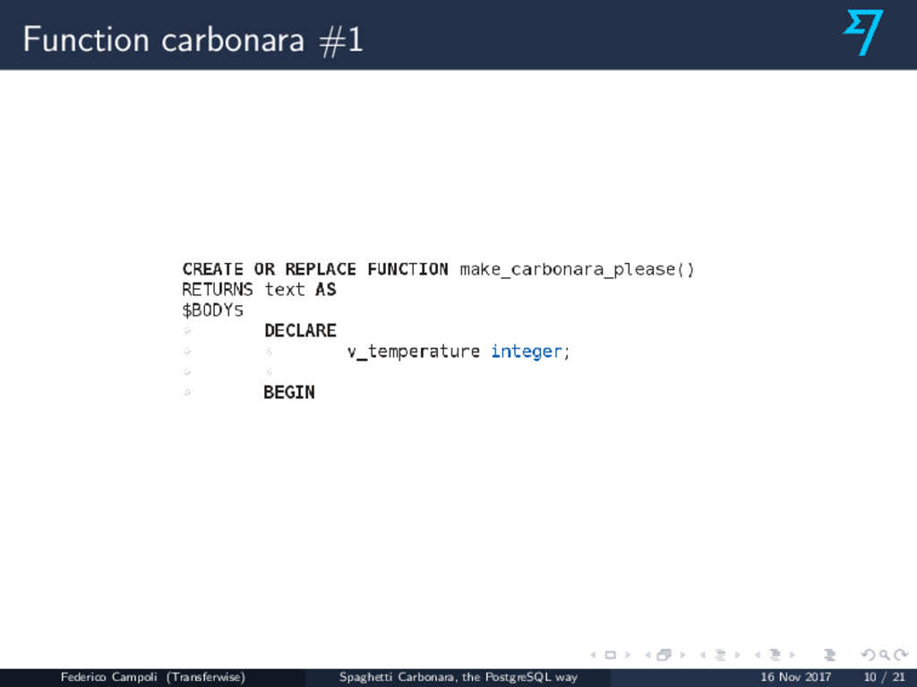 Function carbonara #1 Federico Campoli (Transfe...