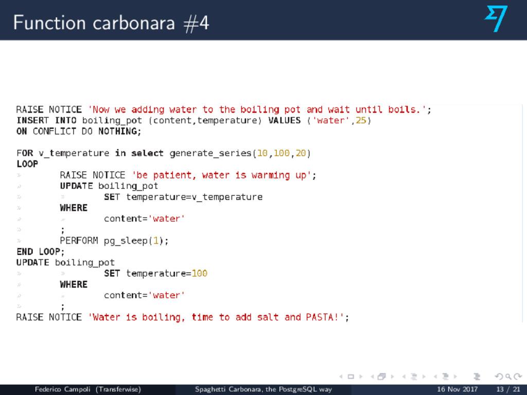Function carbonara #4 Federico Campoli (Transfe...
