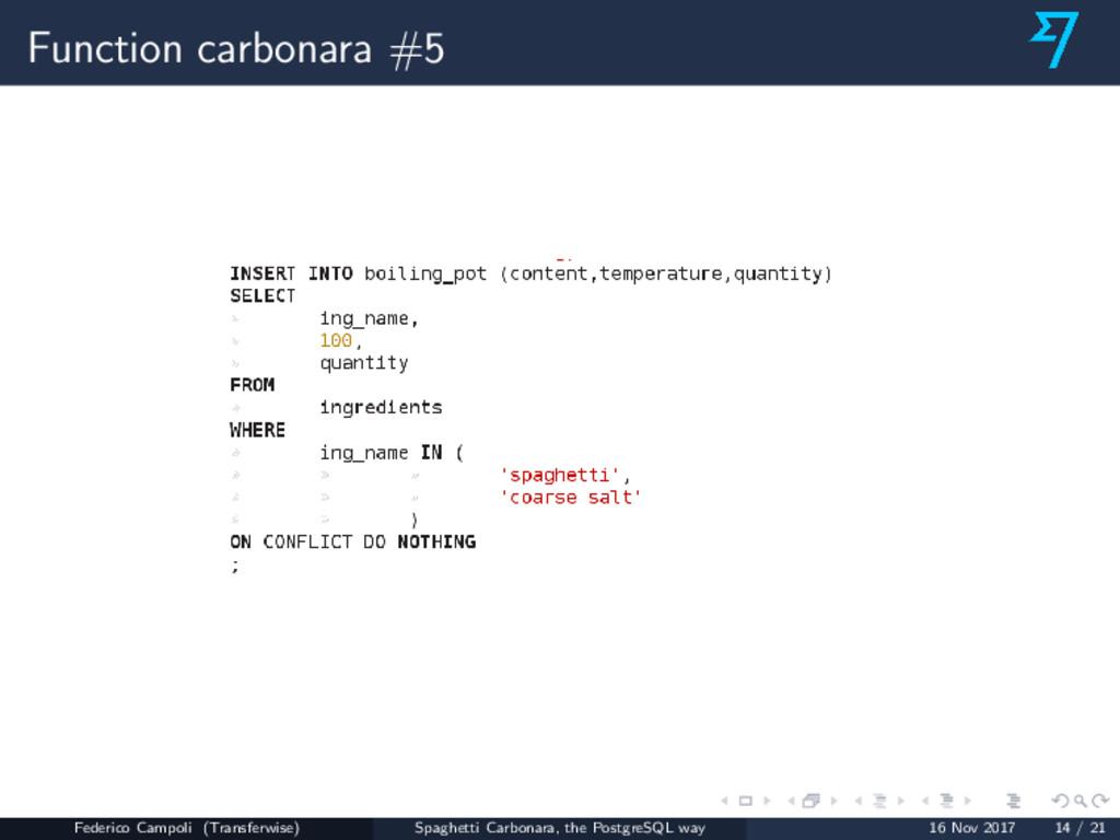Function carbonara #5 Federico Campoli (Transfe...