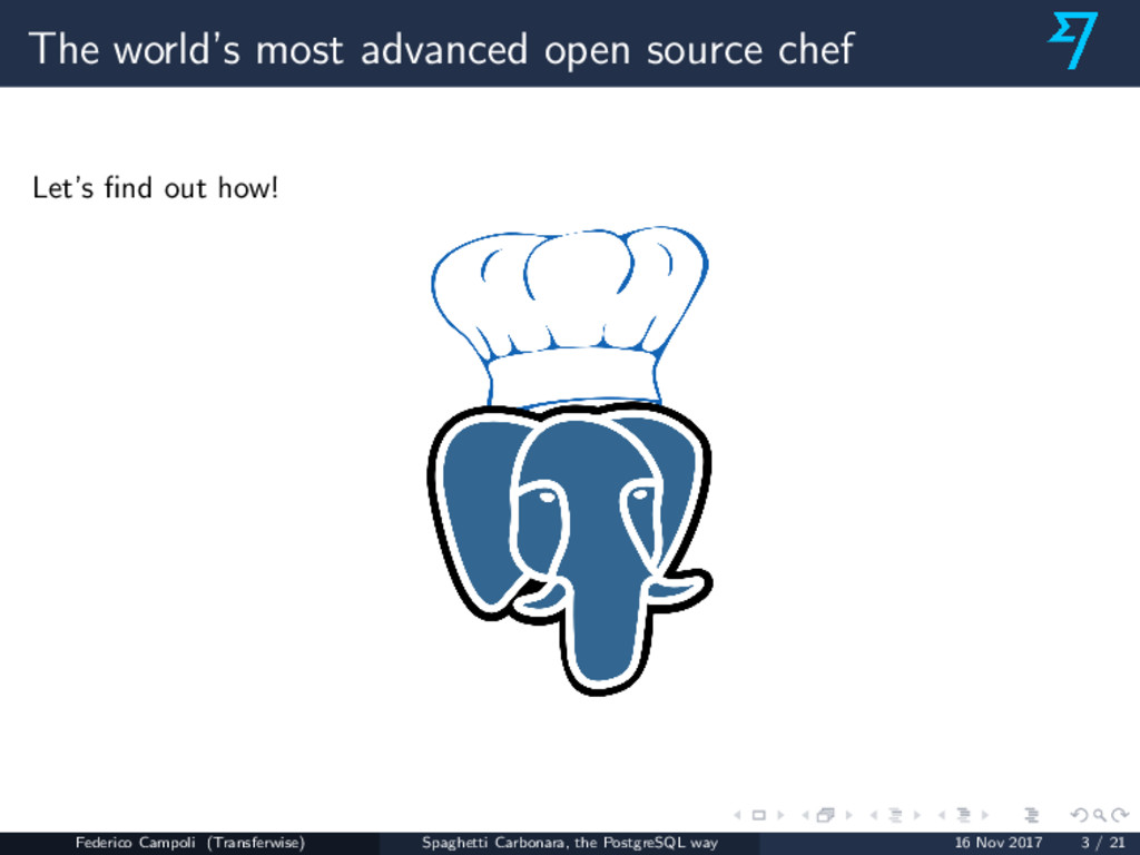 The world's most advanced open source chef Let'...