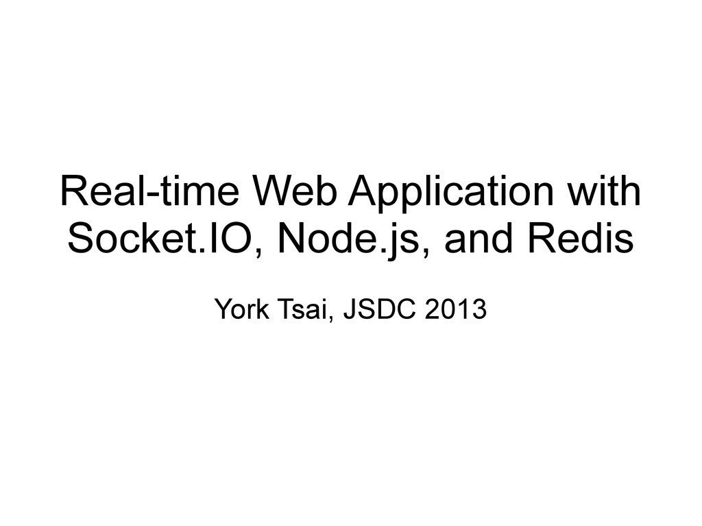 Real-time Web Application with Socket.IO, Node....