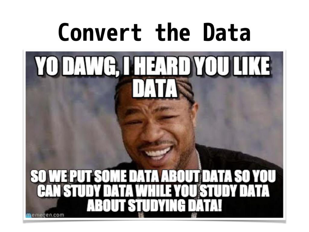 Convert the Data