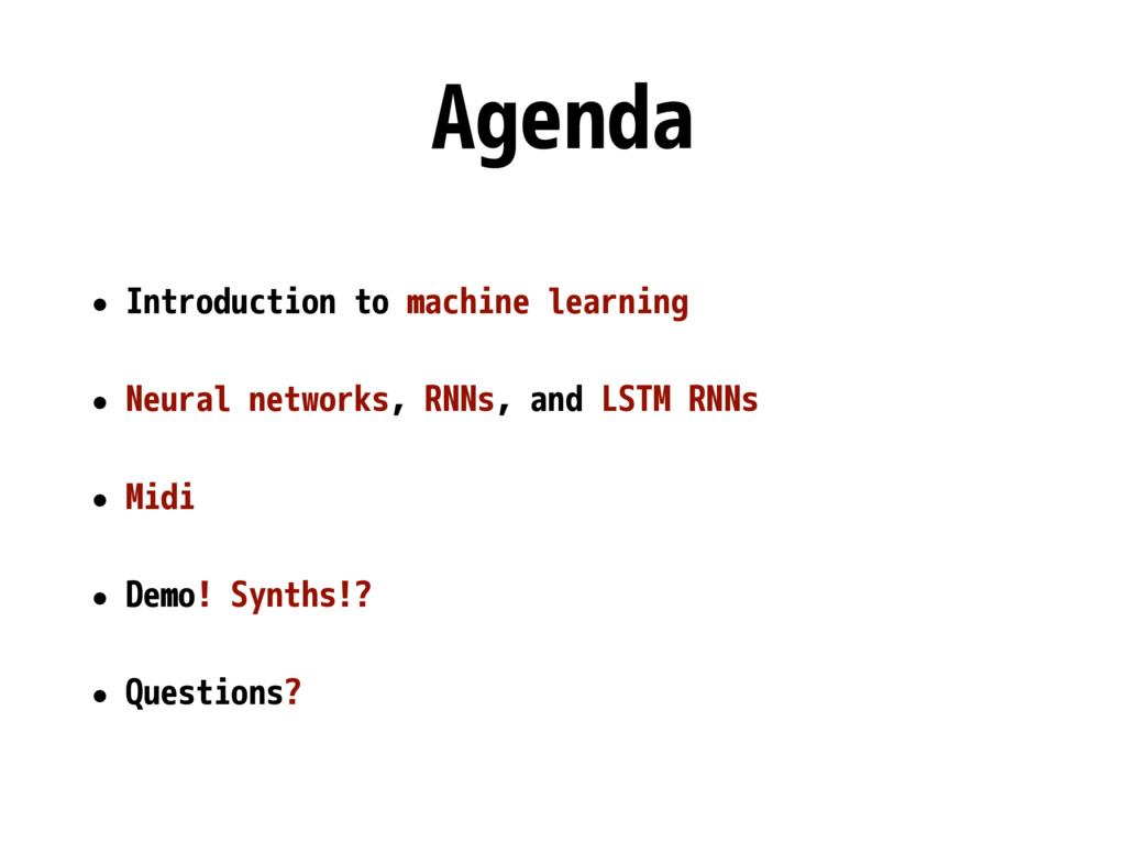 Agenda • Introduction to machine learning • Neu...