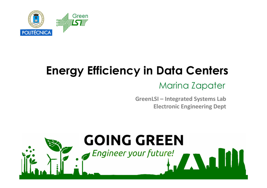 Energy Efficiency in Data Centers Marina Zapate...