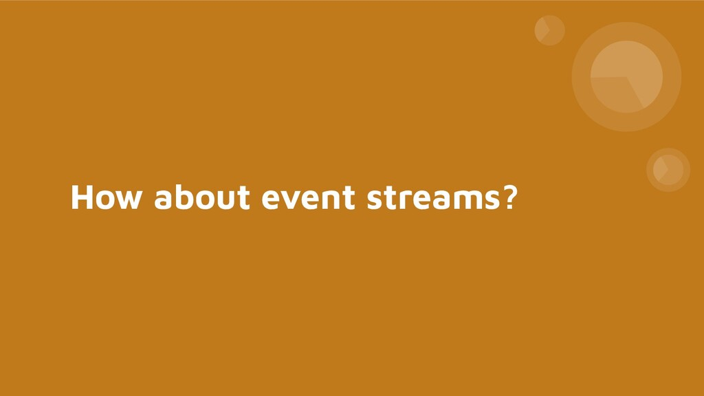How about event streams?