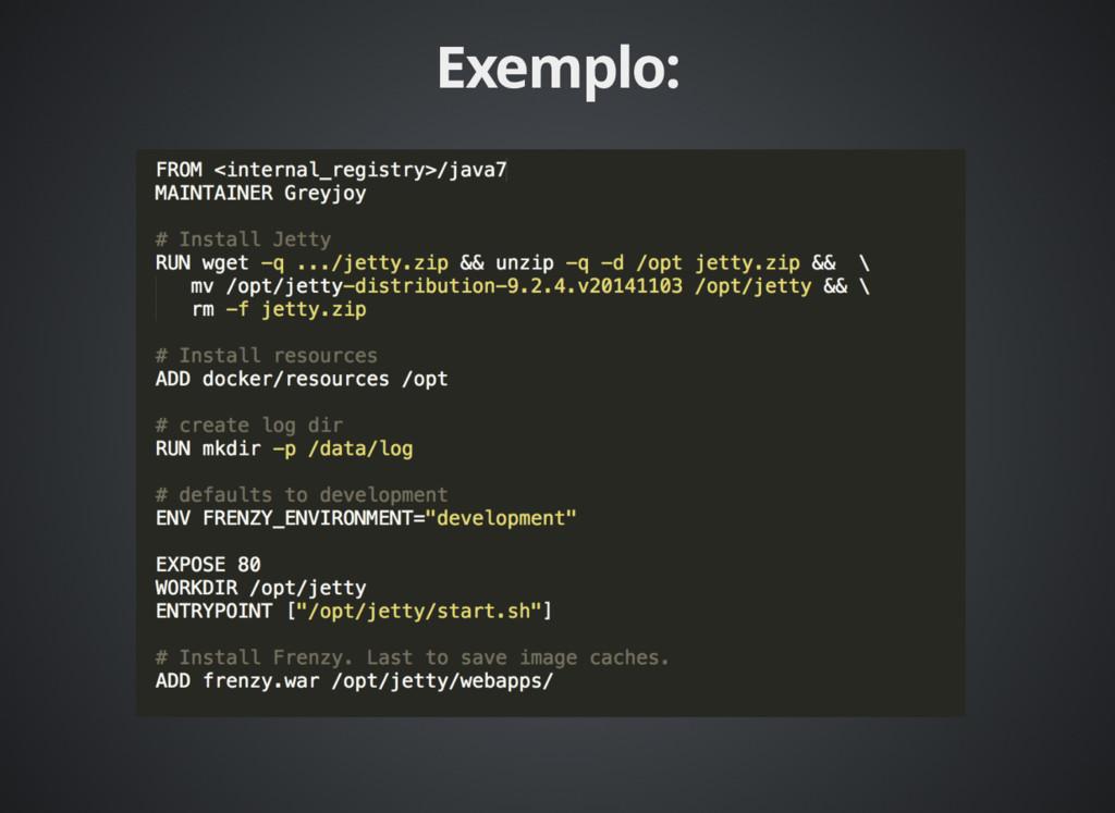 Exemplo: Exemplo: