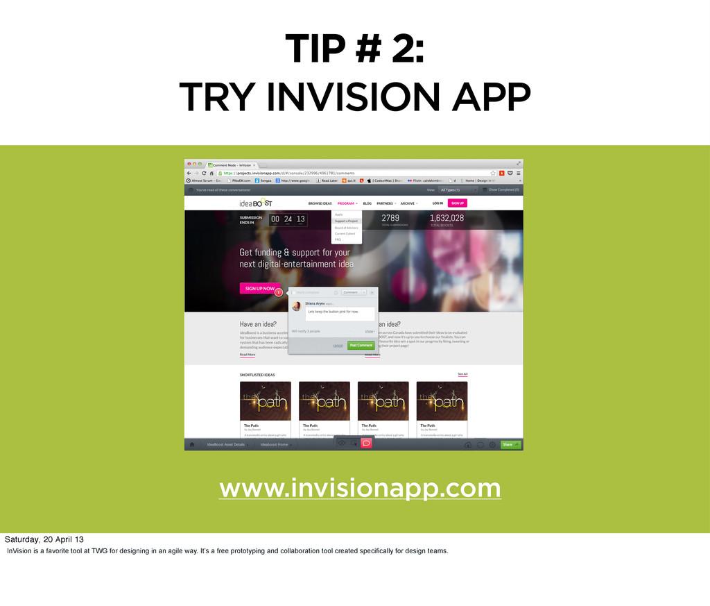 www.invisionapp .com www.invisionapp.com TIP # ...