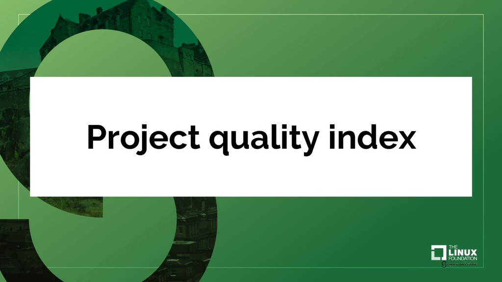 Project quality index