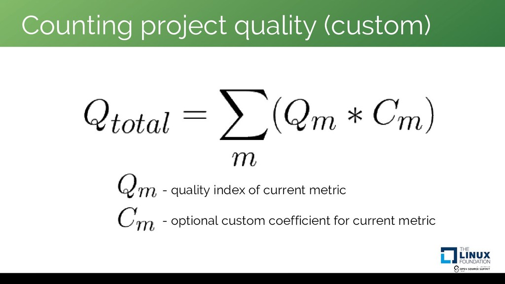 Counting project quality (custom) - quality ind...