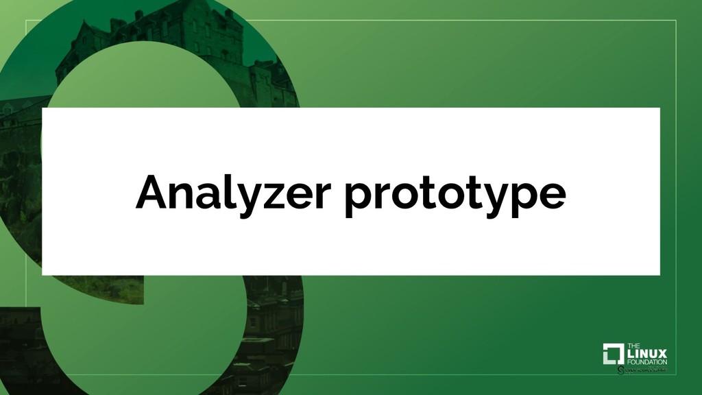 Analyzer prototype