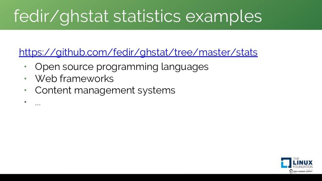 fedir/ghstat statistics examples https://github...