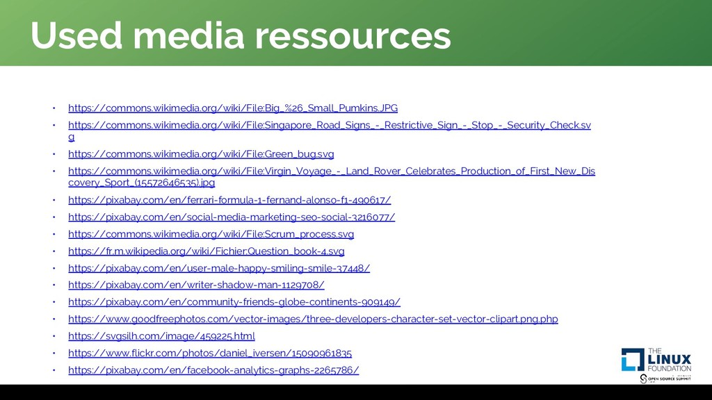Used media ressources • https://commons.wikimed...