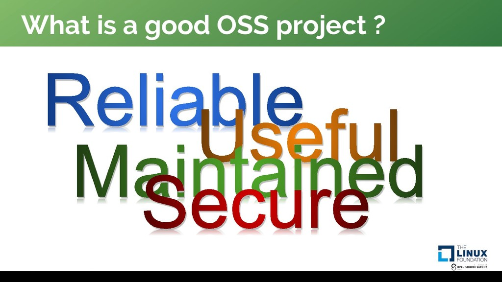 What is a good OSS project ?