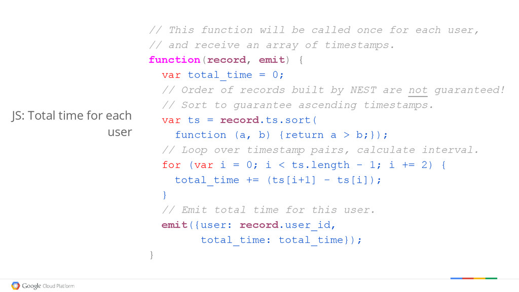 // This function will be called once for each u...
