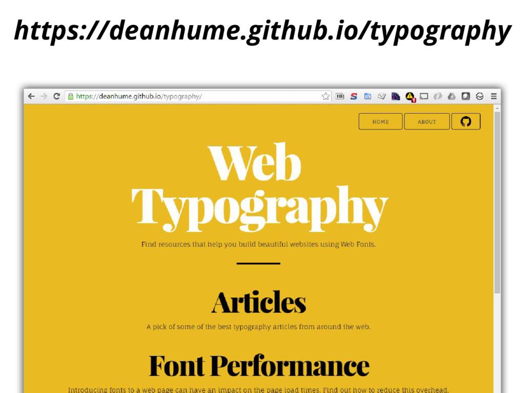 https://deanhume.github.io/typography