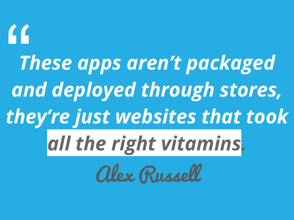 These apps aren't packaged and deployed through...