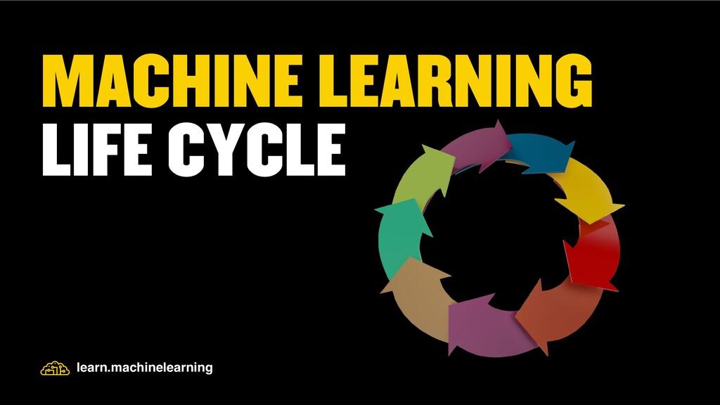 MACHINE LEARNING LIFE CYCLE learn.machinelearni...