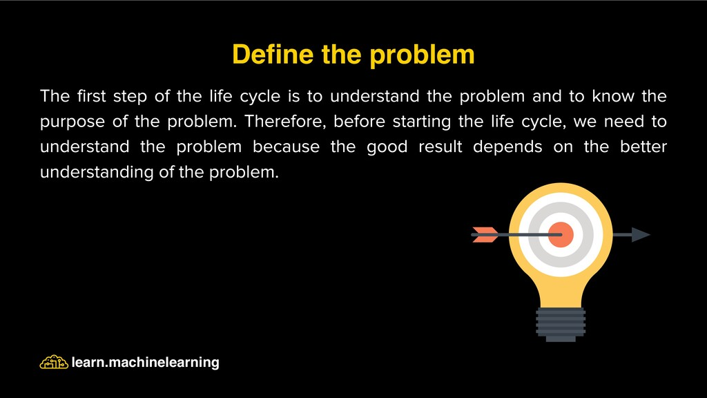 The first step of the life cycle is to understa...
