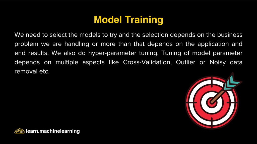 We need to select the models to try and the sel...